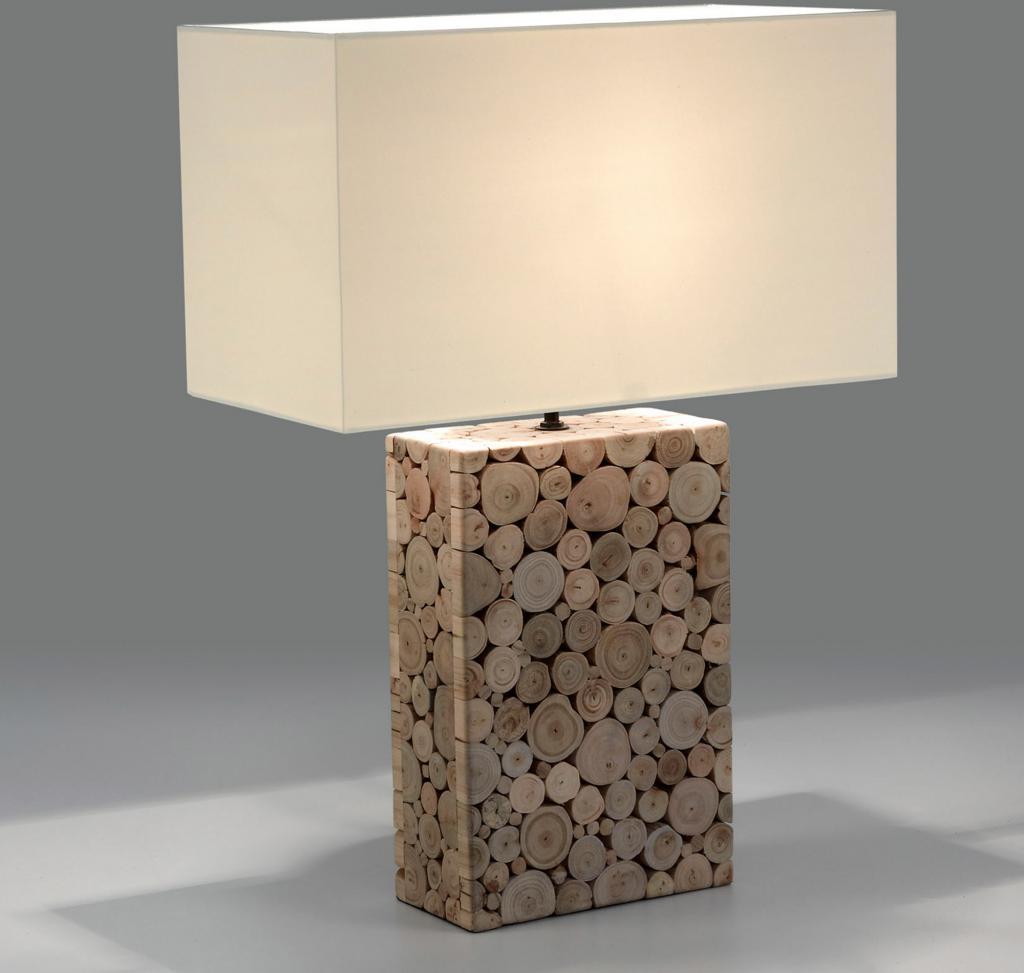 Tischlampe Tangor Weiss Holz La Forma Kaufen Lilianshouse De